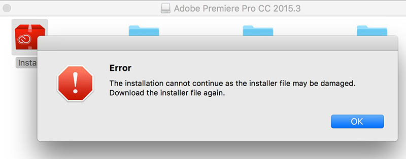 Download the installer file again