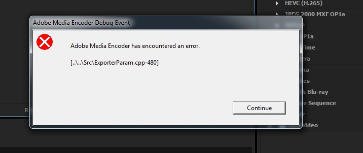 Render returned error