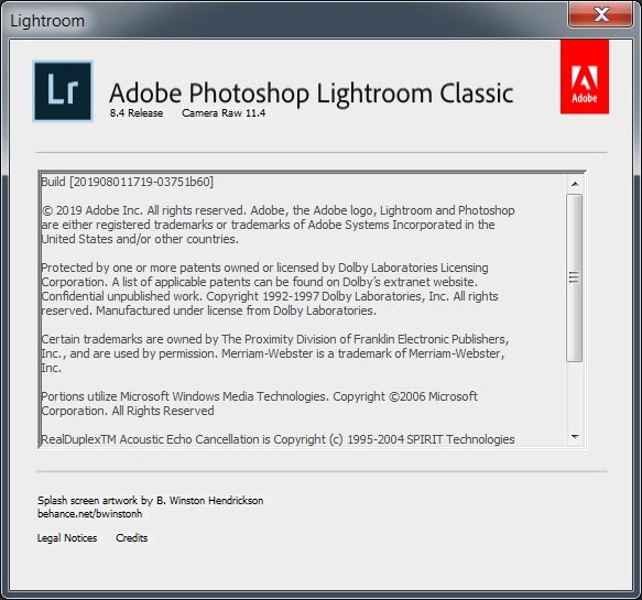 Adobe Photoshop Lightroom Classic CC 2019 v8.4.0 (x64)