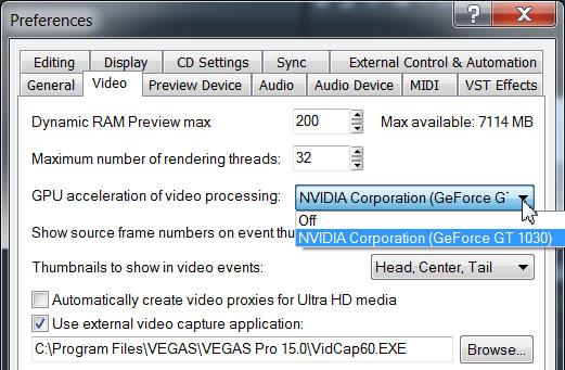 nVideo GeForce GT 1030 и NVENC