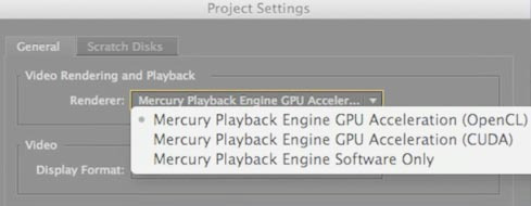 Mercury Playback Engine GPU Acceleration (OpenCL)