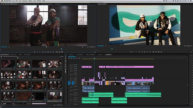 User Interface в Adobe Premiere Pro CC 8.1